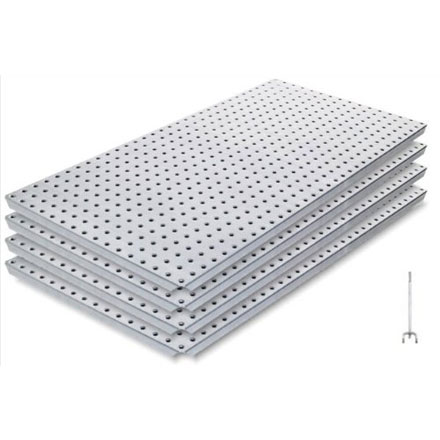 16 x 32 Inch Galvanized Metal Plated Pegboard