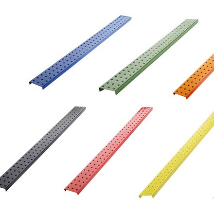3 x 32 Inch Galvanized Metal Plated Pegboard Strips